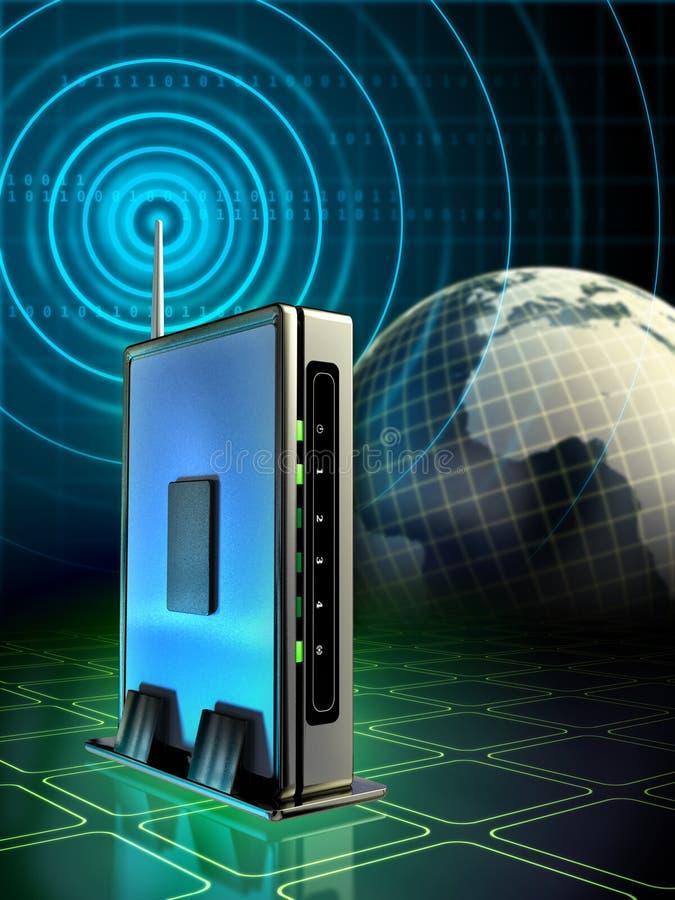 routera radio ilustracja wektor