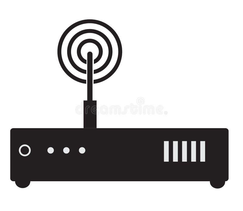 Routerikone auf weißem Hintergrund Flaches Artdesign vektor abbildung