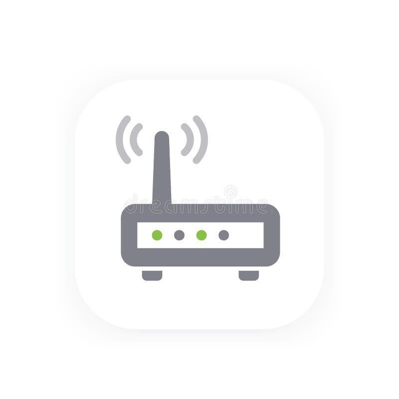 Routervektorikone, wifi Modem-Vektorillustration lizenzfreie abbildung