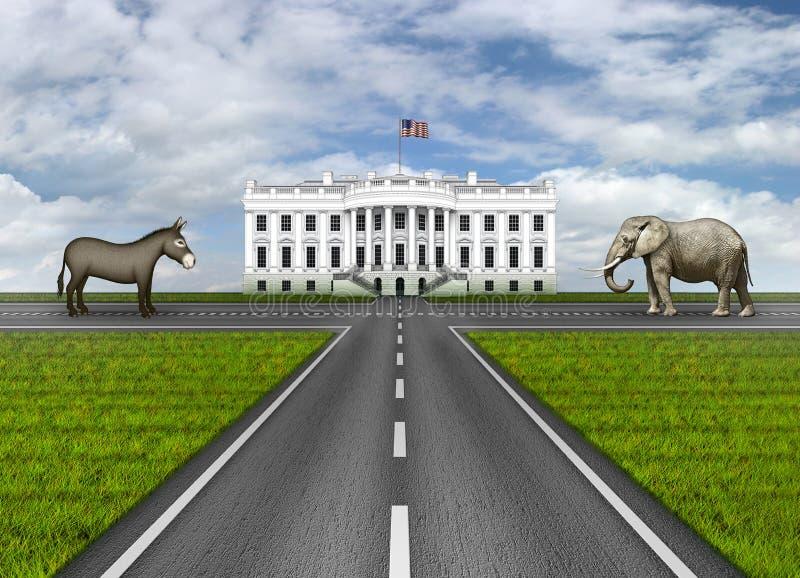Routes à la Maison Blanche  illustration stock