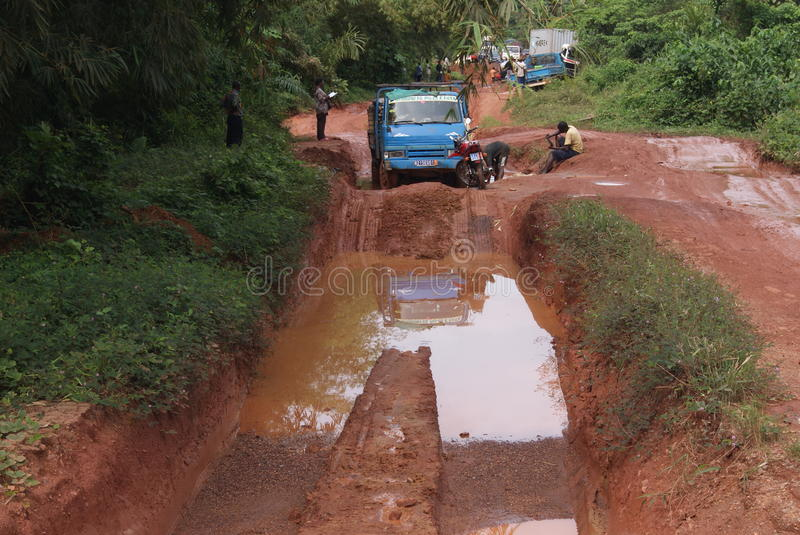 Routes africaines photos libres de droits