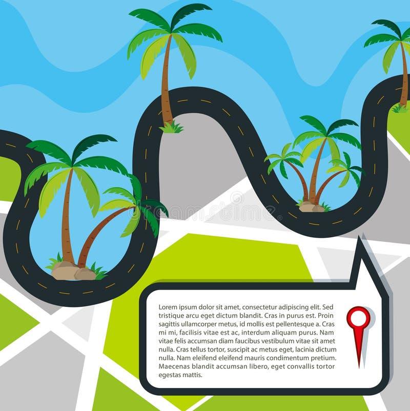 Routes autour de concept de l'eau illustration de vecteur