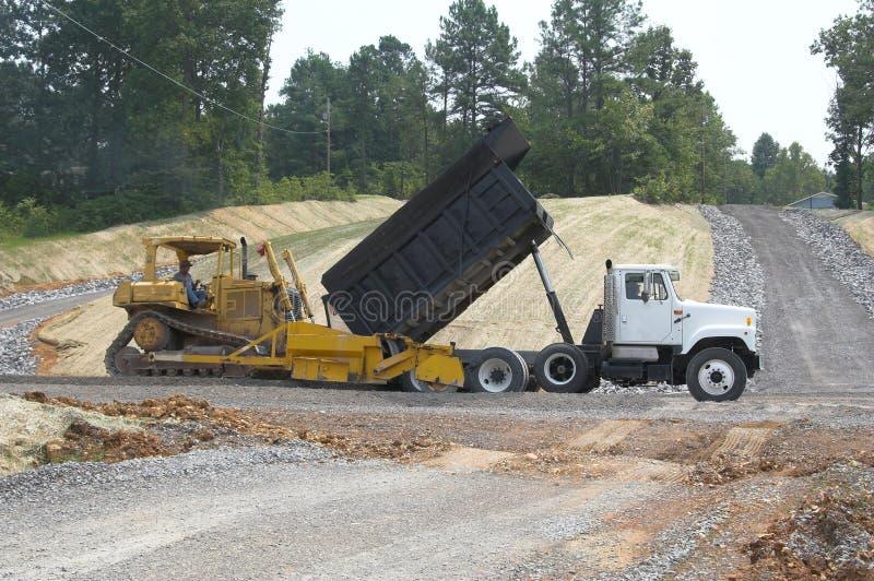 Routes de construction photo libre de droits