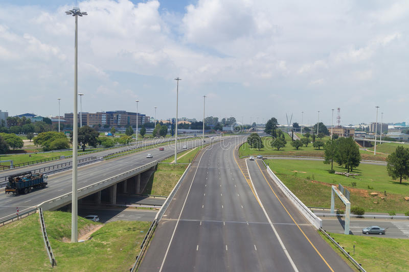 Routes de Johannesburg images libres de droits
