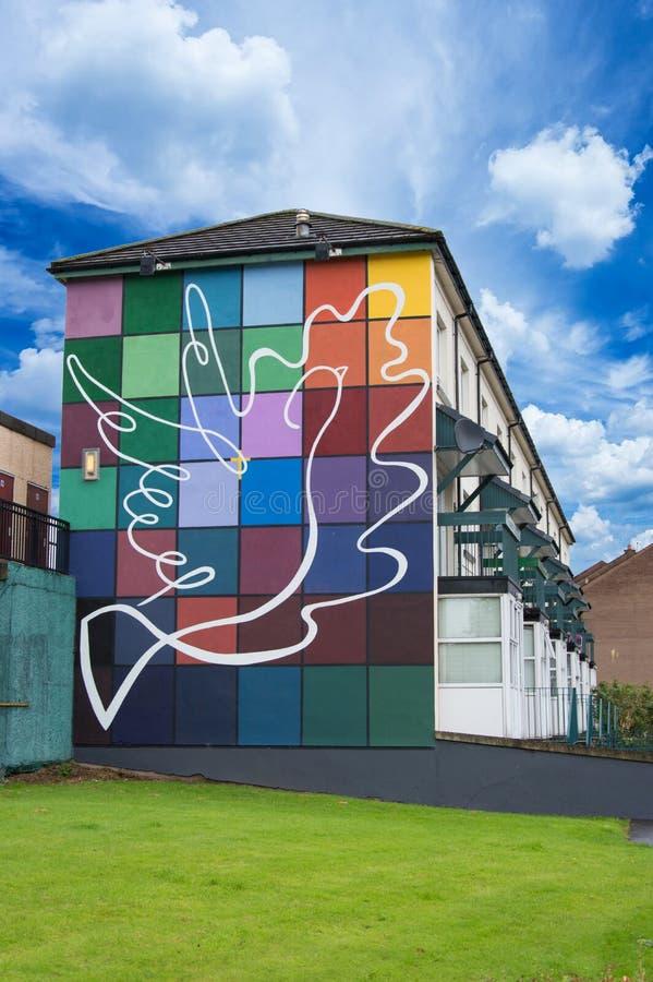 Routes de peinture de mur dans Derry (LondonDerry) photographie stock