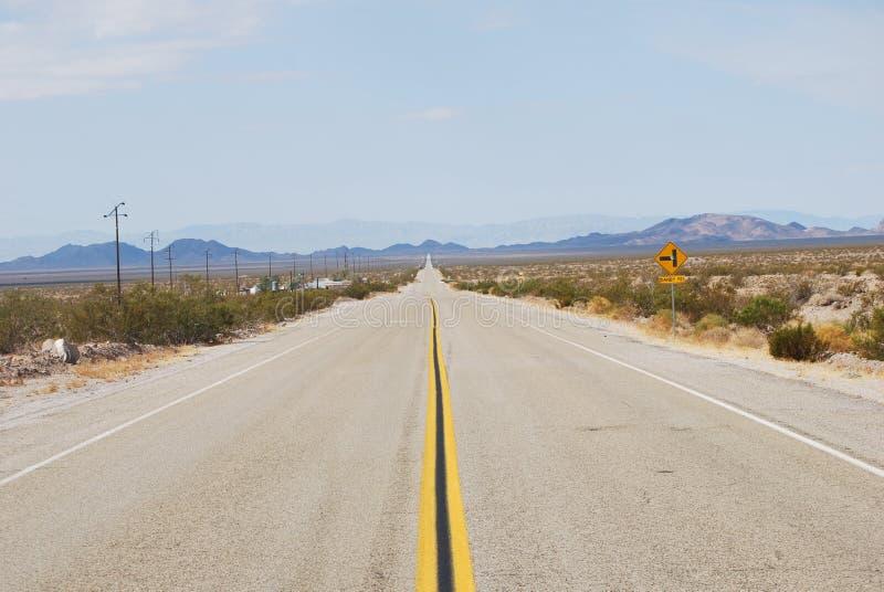 Routes de perspective photographie stock libre de droits