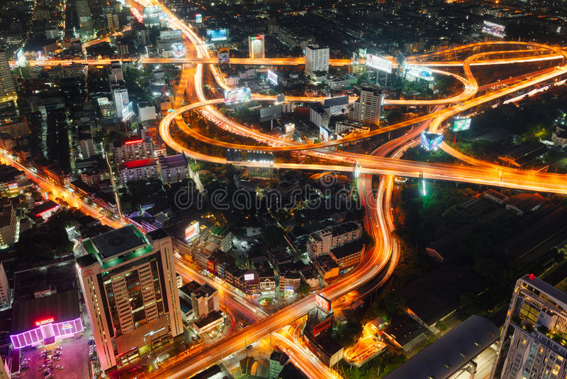 Routes de ville de Bangkok photo stock