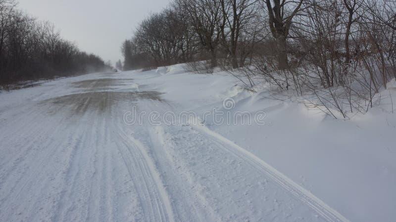 Routes Moldau d'hiver images libres de droits