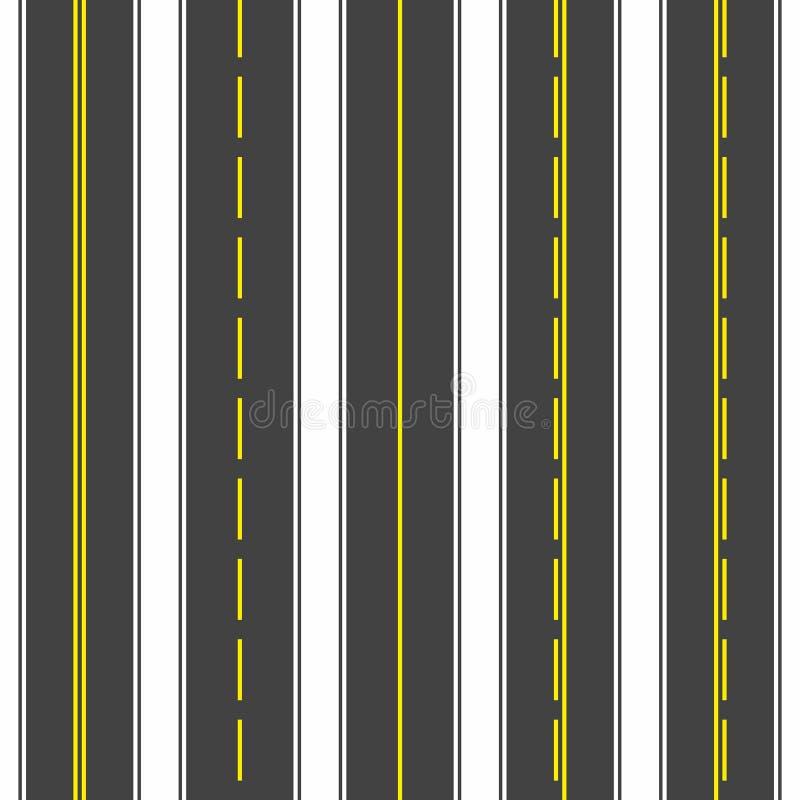 Routes sans joint Obscurité d'asphalte Illustration de vecteur illustration libre de droits