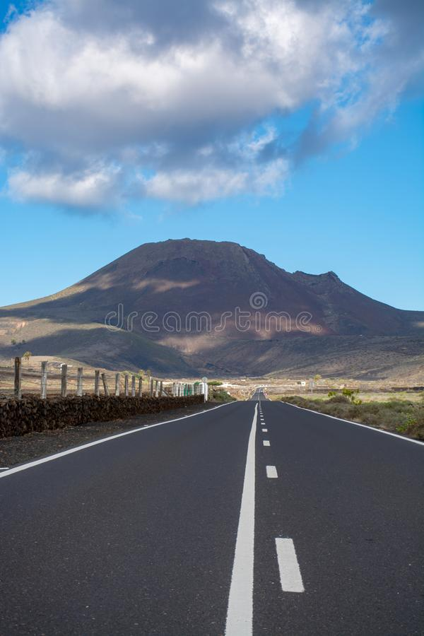 Routes sur l'île de Lanzarote, transport, la meilleure manière de découvrir images stock