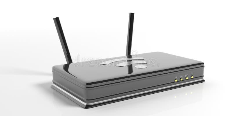 Routeur de Wifi sur le fond blanc illustration 3D illustration libre de droits