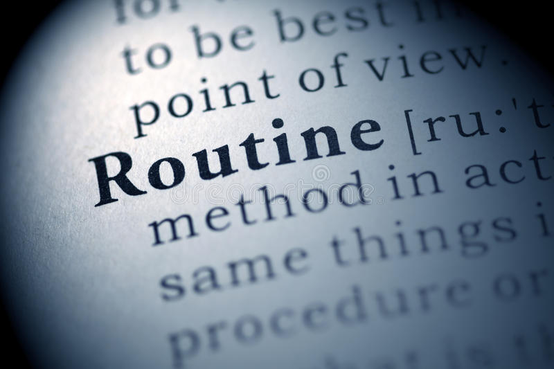Download Routine stock photo. Image of text, routine, macro, book - 78999514