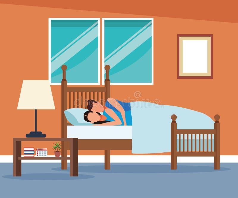 Routines à la maison illustration libre de droits
