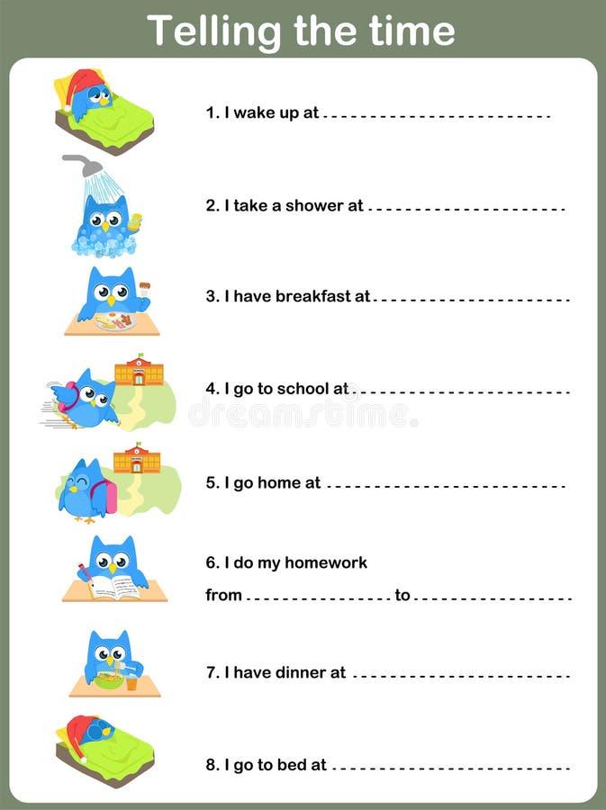 English Exercises: Daily routines