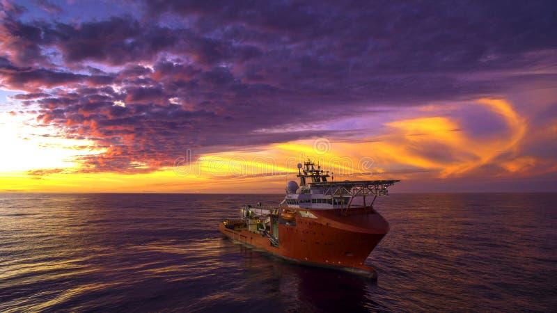 ROV-Schiff stockfoto