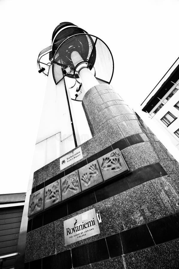 Rovaniemi, de stadscentrum van Finland stock afbeelding