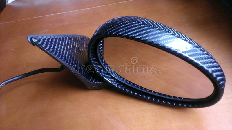 Rover 45 carbon 4d wrap mirror stock photo