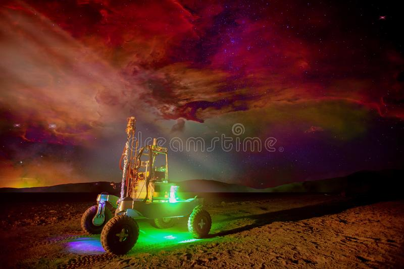 Rover en el Marte fotos de archivo