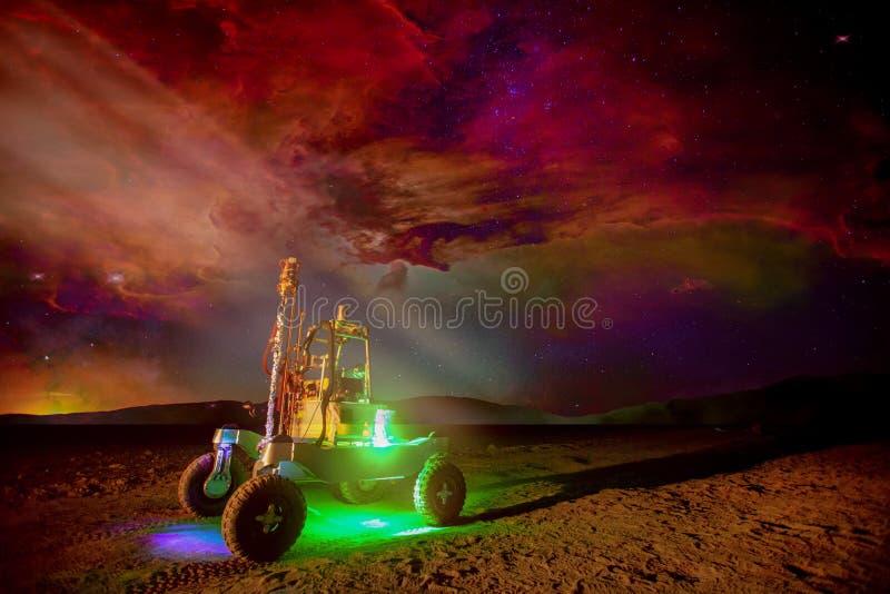 Rover on the Mars. stock photos