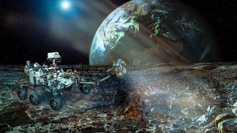 Rover na Mars royalty ilustracja