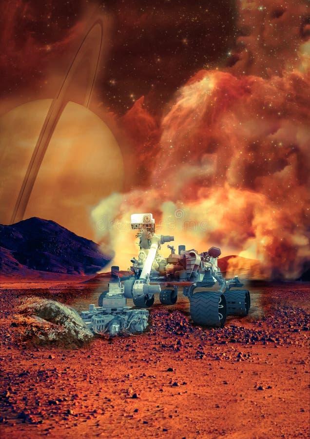 Rover op Mars royalty-vrije stock afbeelding