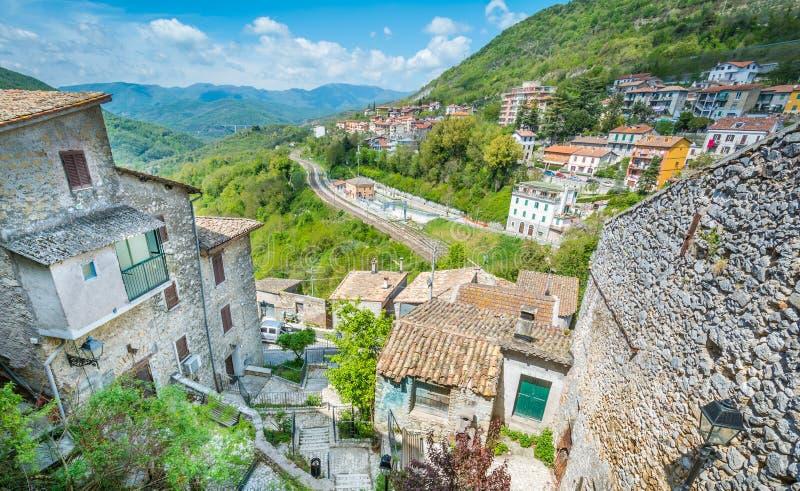 Roviano, comune na cidade metropolitana de Roma na região italiana Latium imagem de stock royalty free