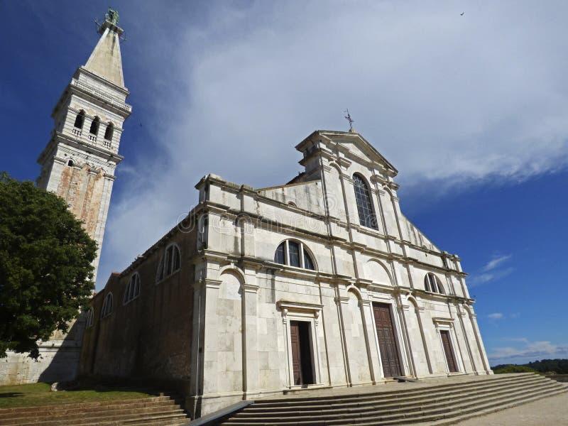 Rovigno, Istria, La Croazia, Di Santa Eufemia de Chiesa de La photos libres de droits