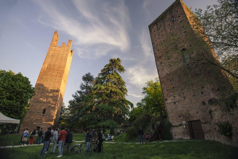 Rovigos torn royaltyfri bild