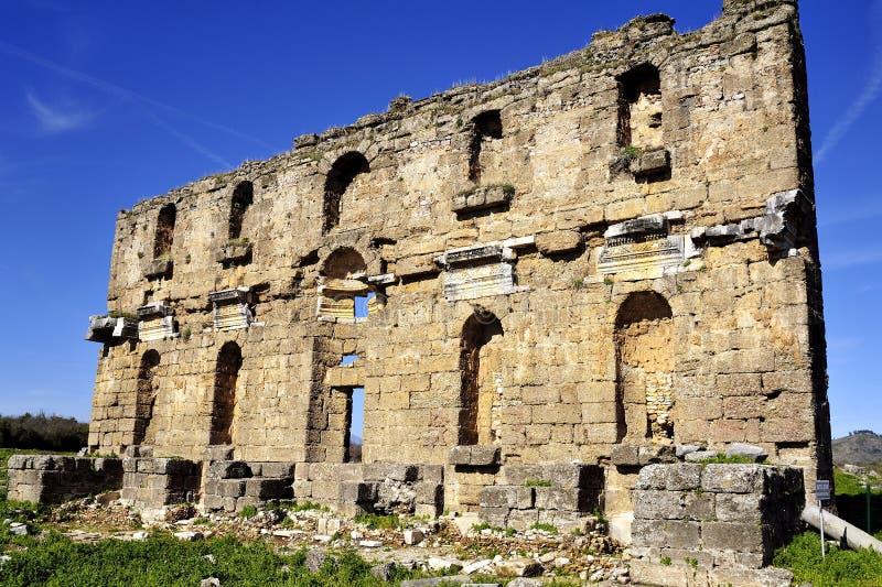 rovina in Aspendos fotografia stock libera da diritti