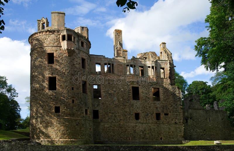 Rovina del castello di Huntly in Huntly Aberdeenshire Scozia fotografie stock libere da diritti