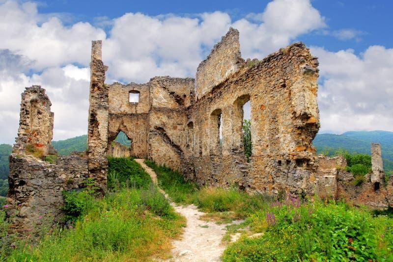 Rovina del castello - hrad di Povazsky, Slovacchia immagine stock