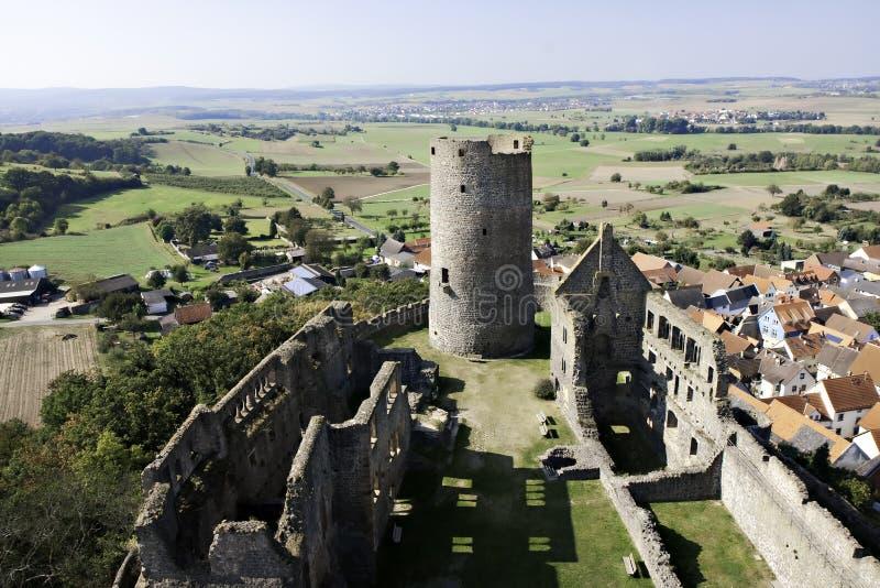 Rovina del castello medioevale Muenzenberg immagine stock