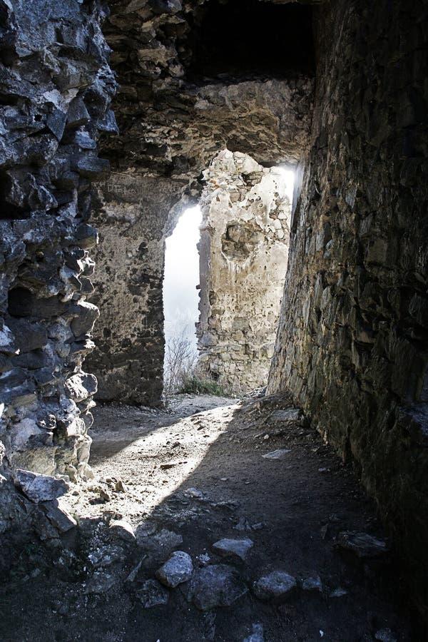Rovina del castello storico fotografia stock