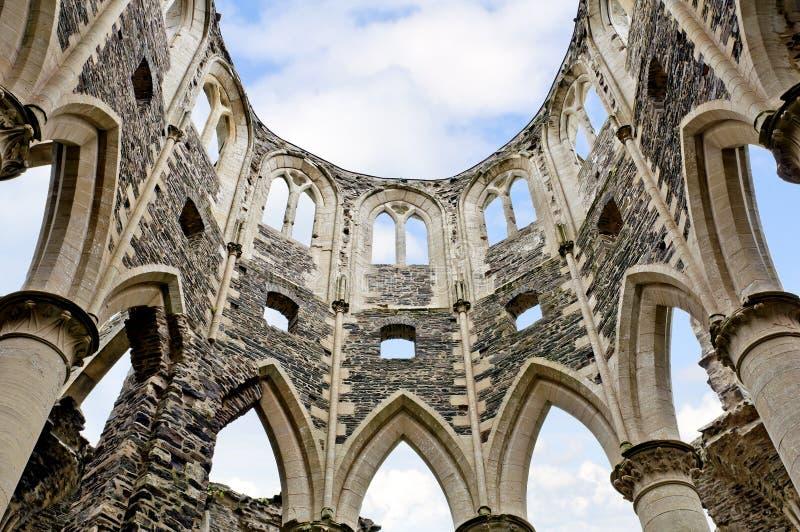 Rovina dell'abbazia del hambey in Francia fotografia stock
