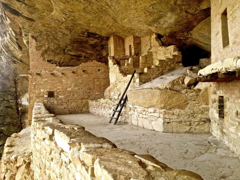 Rovina della Camera del balcone a Mesa Verde fotografia stock libera da diritti