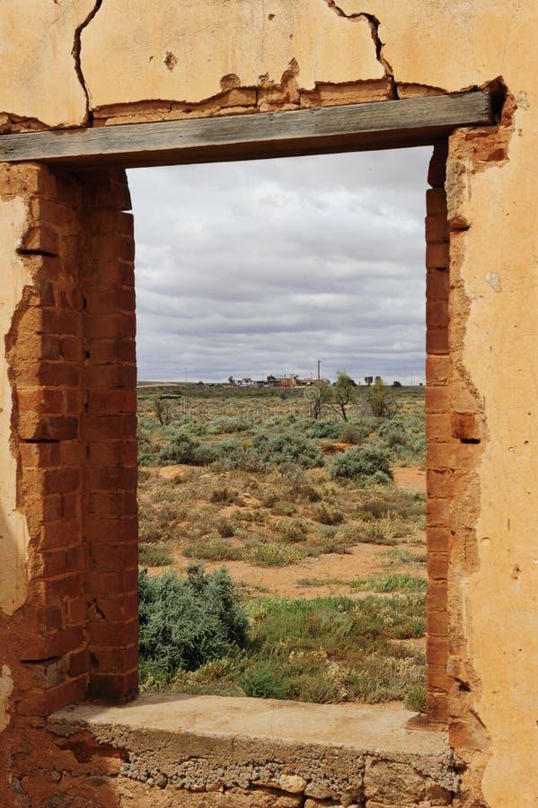 Rovina della città fantasma immagine stock libera da diritti
