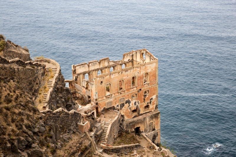 Rovina di Los Realejos sulla scogliera di Tenerife, Spagna fotografia stock libera da diritti