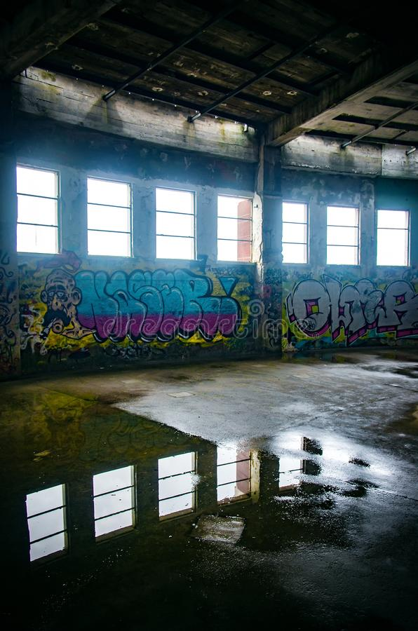Rovina industriale fotografie stock