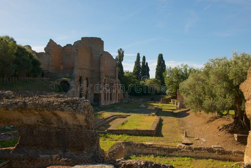 Rovine alla villa di Hadrians fotografia stock
