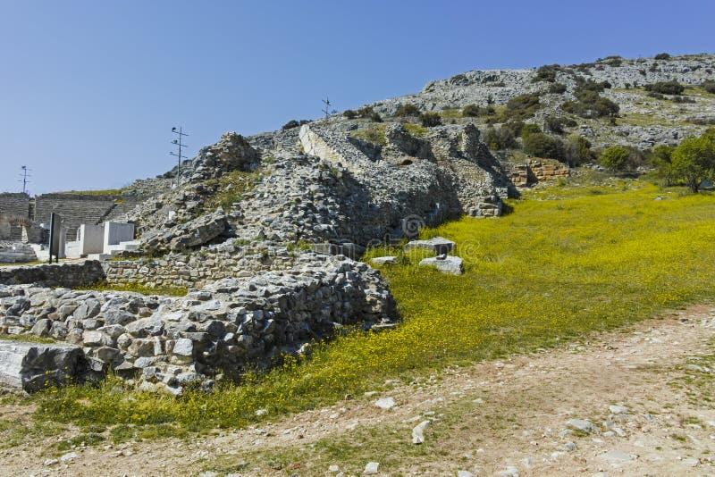 Rovine antiche al sito archeologico di Filippi, Grecia immagini stock libere da diritti