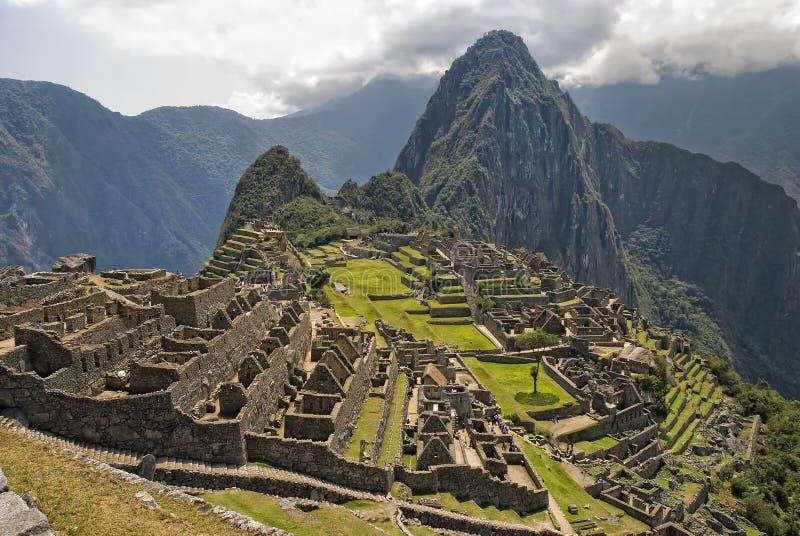 Rovine antiche del Inca di Machupicchu fotografia stock