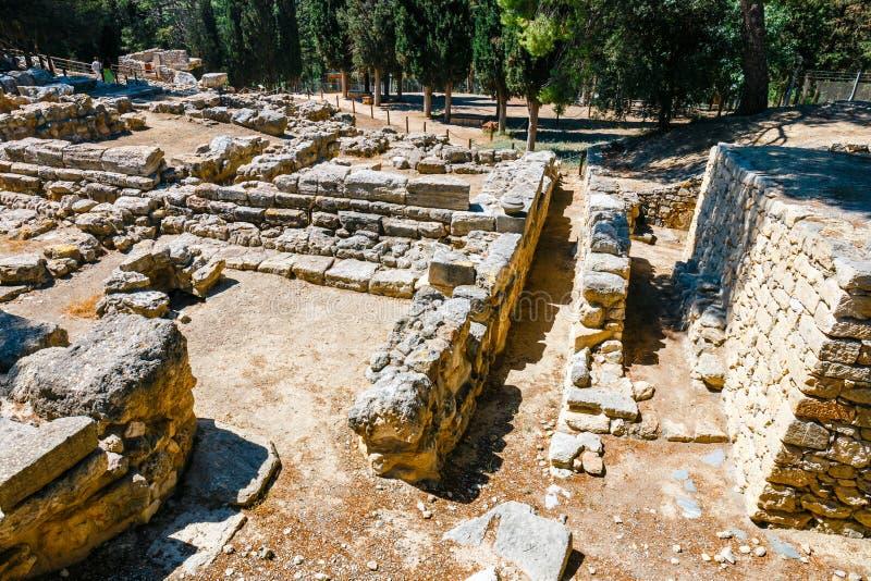 Rovine antiche del palazzo famoso di Minoan di Knosos, isola di Creta, Grecia fotografia stock