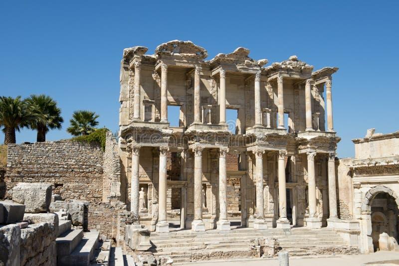 Rovine antiche della città di Ephesus, corsa in Turchia immagine stock libera da diritti