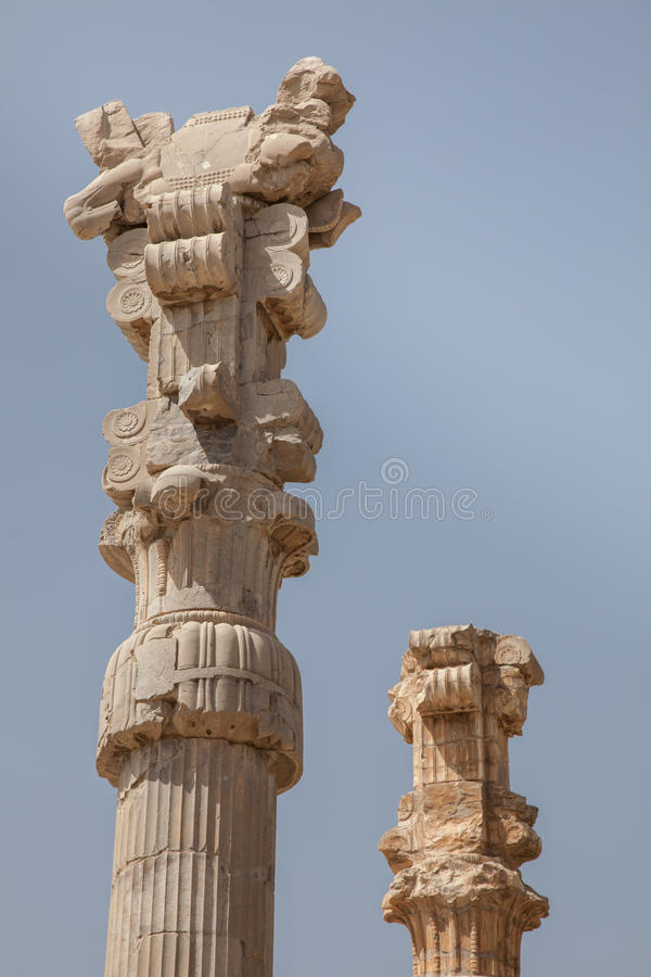 Rovine antiche, persepolis, Iran fotografie stock