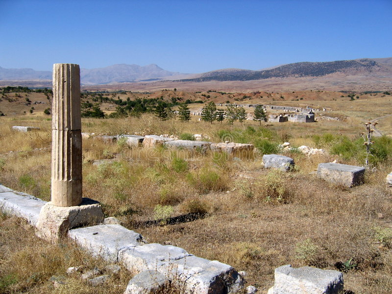 Rovine antiche - Pisidian Antioch immagine stock