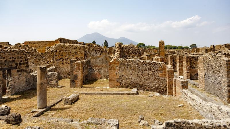 Rovine antiche a Pompei, Italia immagini stock