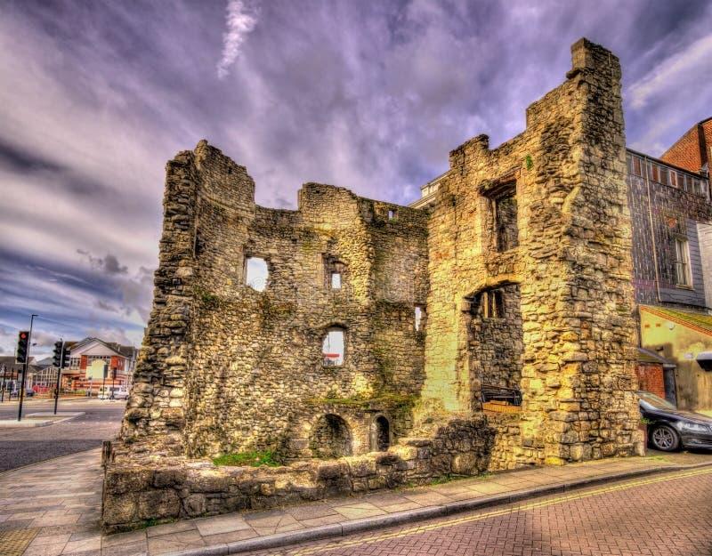 Rovine antiche Southampton - nel Hampshire fotografia stock libera da diritti