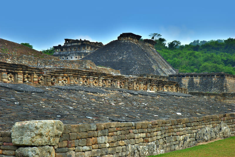 Rovine Archaeological di EL Tajin, Veracruz, Messico fotografia stock