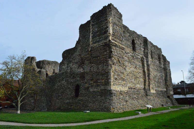 Rovine del castello a Canterbury fotografia stock libera da diritti