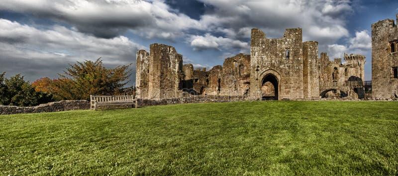 Rovine del castello del raglan, Monmouthshire, Galles fotografia stock